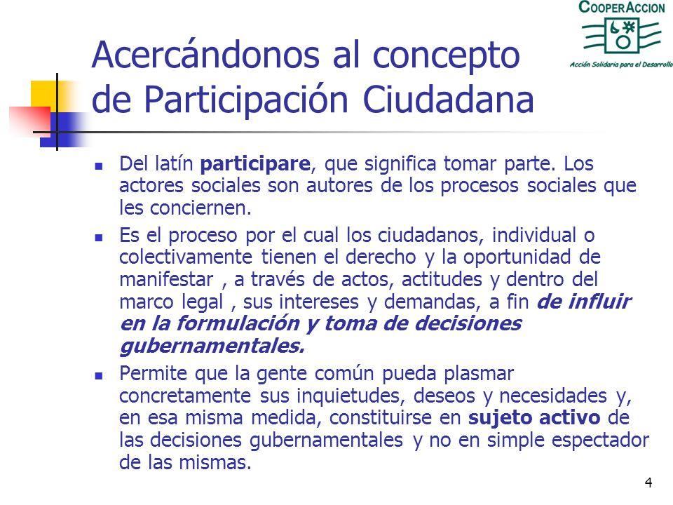 Acercándonos al concepto de Participación Ciudadana