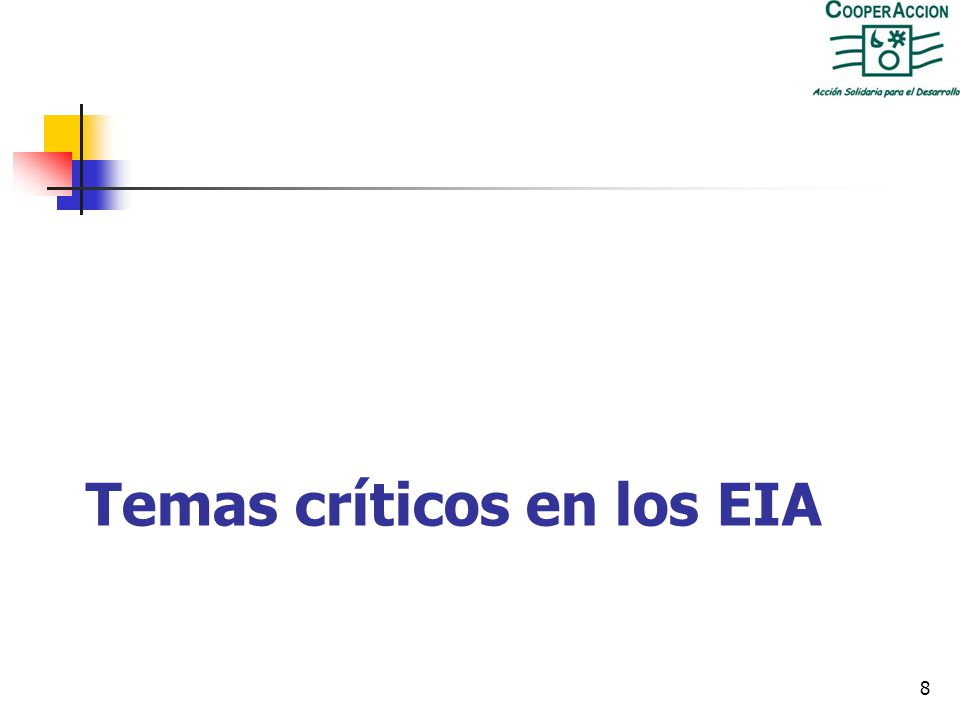 Temas críticos en los EIA