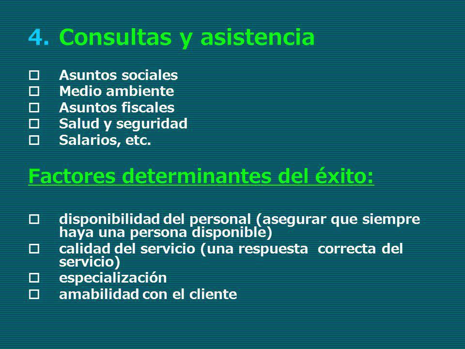 Consultas y asistencia