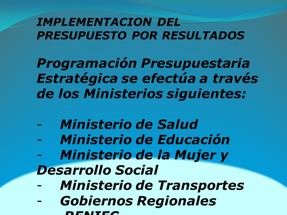 Ministerio de Educación Ministerio de la Mujer y Desarrollo Social