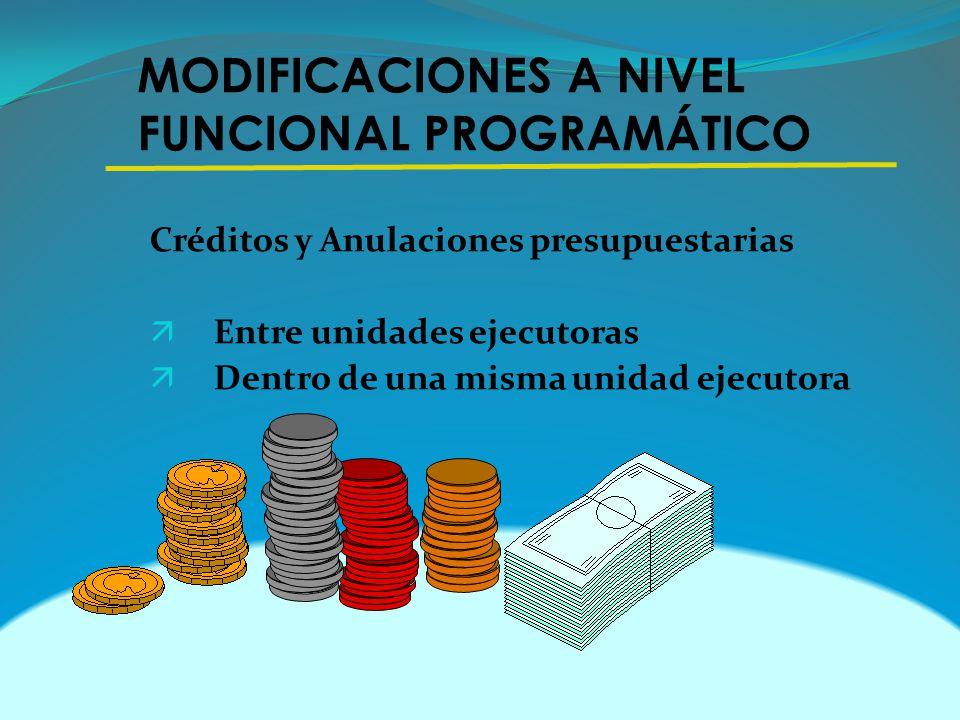 MODIFICACIONES A NIVEL FUNCIONAL PROGRAMÁTICO