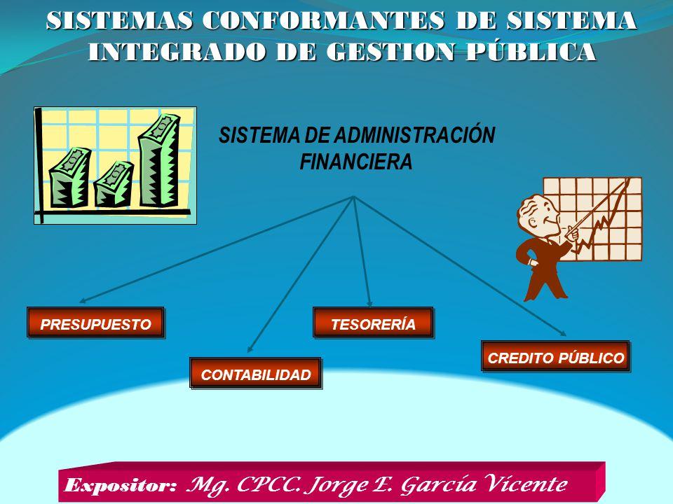 SISTEMAS CONFORMANTES DE SISTEMA INTEGRADO DE GESTION PÚBLICA
