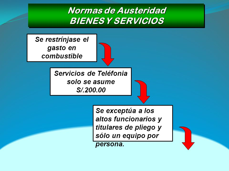 Normas de Austeridad BIENES Y SERVICIOS