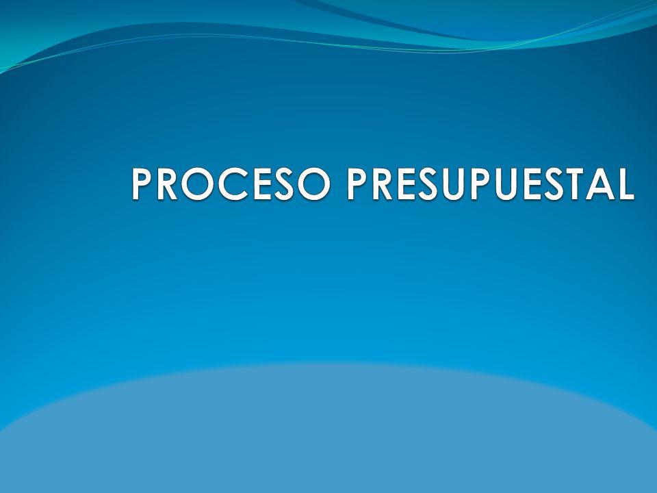 PROCESO PRESUPUESTAL