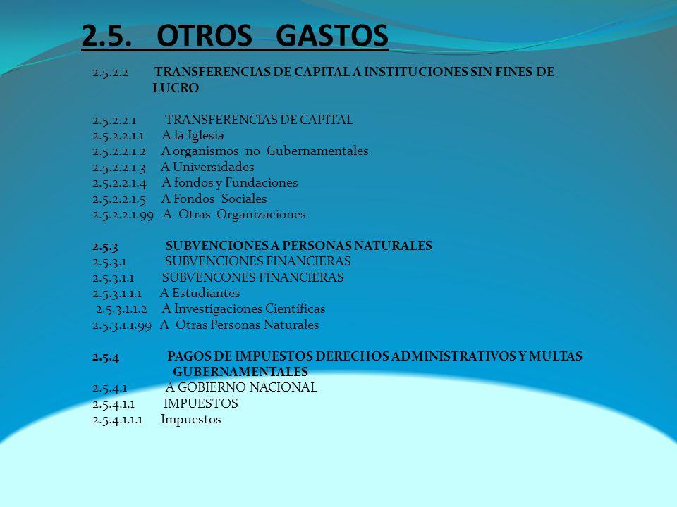 2.5. OTROS GASTOS