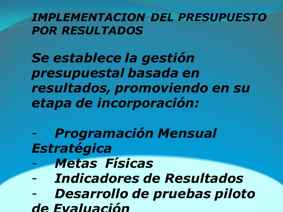 Programación Mensual Estratégica Metas Físicas