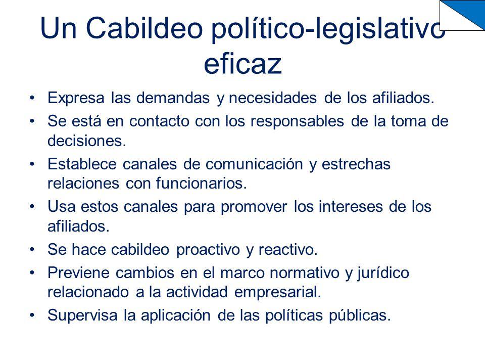 Un Cabildeo político-legislativo eficaz