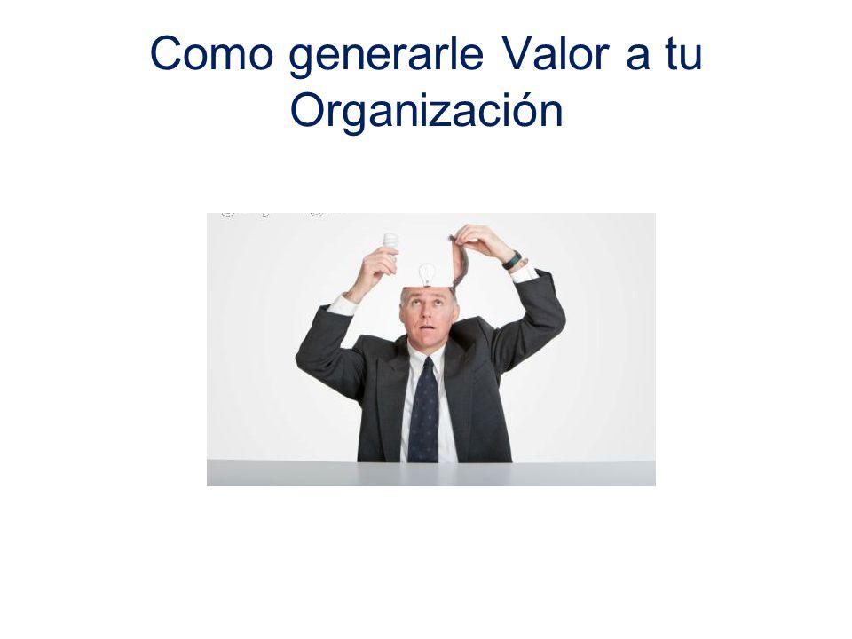 Como generarle Valor a tu Organización