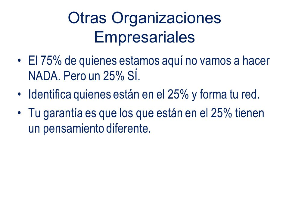 Otras Organizaciones Empresariales