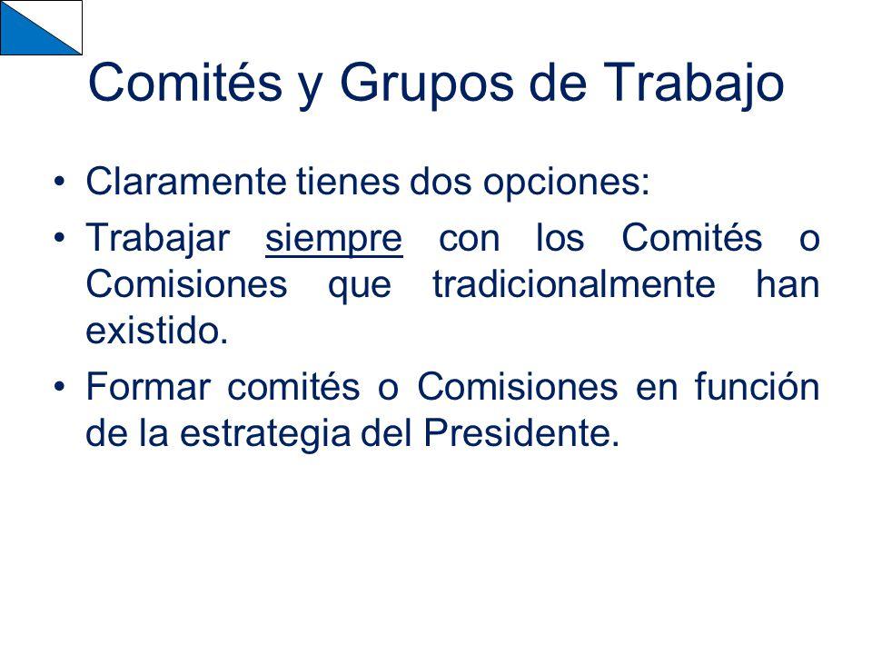 Comités y Grupos de Trabajo