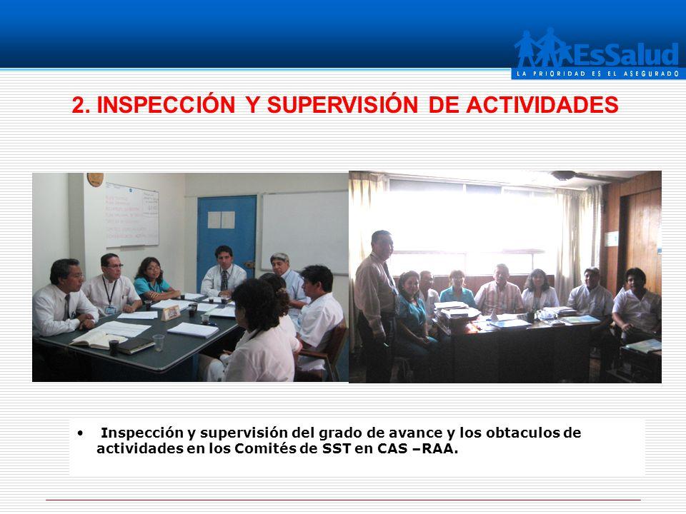 2. INSPECCIÓN Y SUPERVISIÓN DE ACTIVIDADES