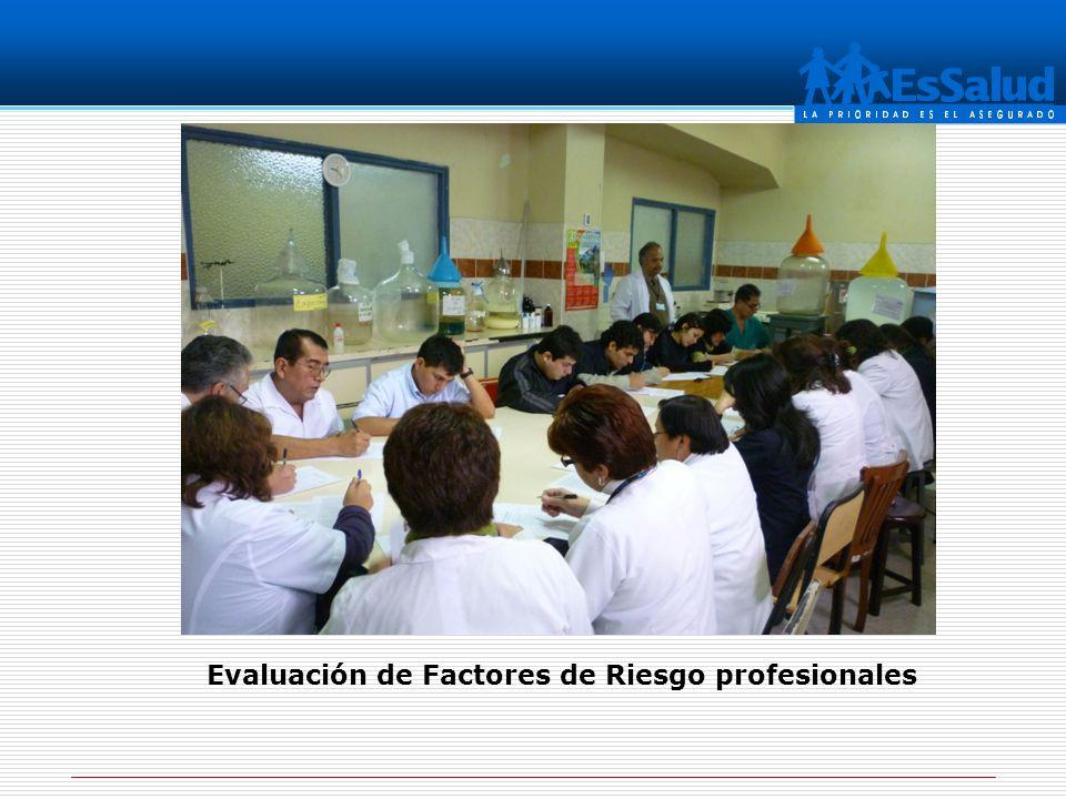 Evaluación de Factores de Riesgo profesionales