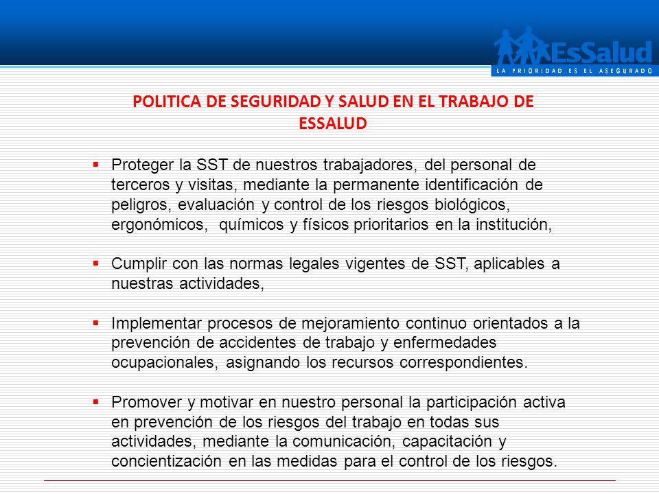 POLITICA DE SEGURIDAD Y SALUD EN EL TRABAJO DE ESSALUD