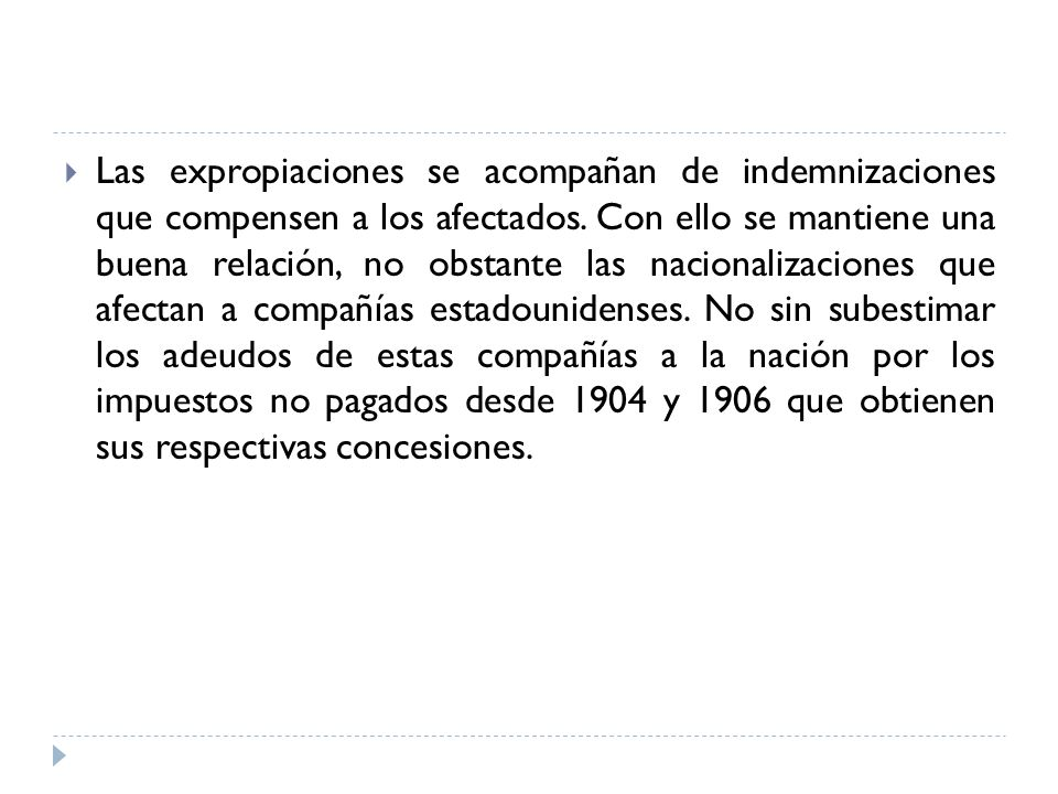 Las expropiaciones se acompañan de indemnizaciones que compensen a los afectados.