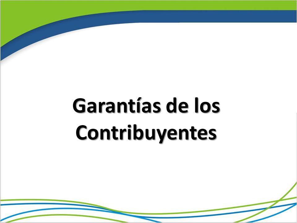 Garantías de los Contribuyentes