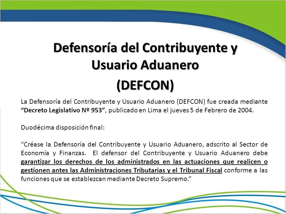 Defensoría del Contribuyente y Usuario Aduanero