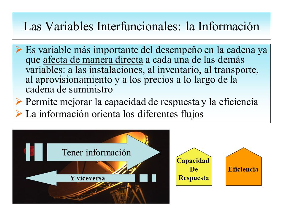 Las Variables Interfuncionales: la Información