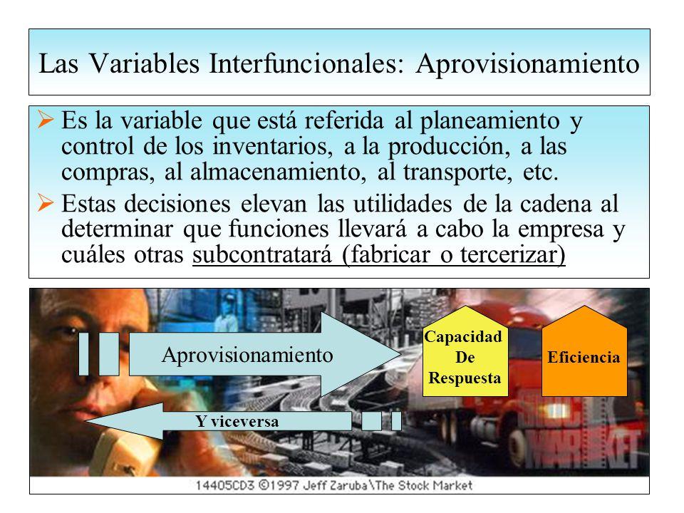Las Variables Interfuncionales: Aprovisionamiento