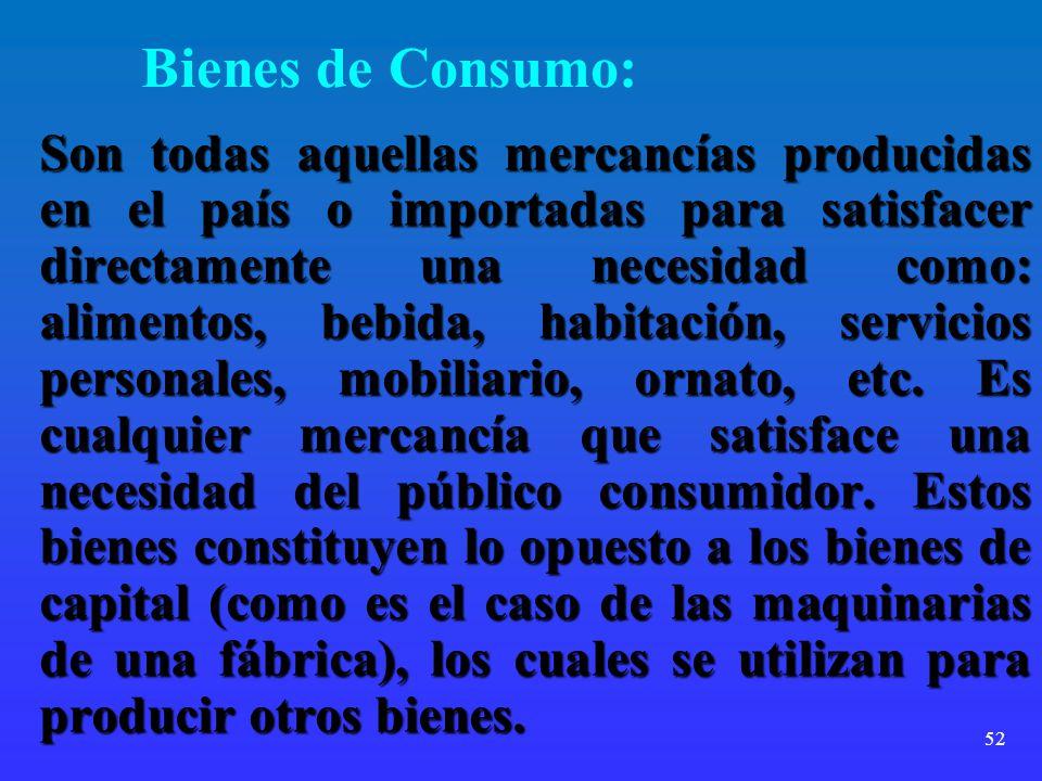 Bienes de Consumo:
