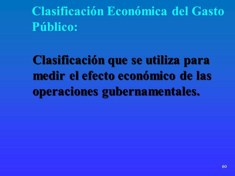 Clasificación Económica del Gasto Público: