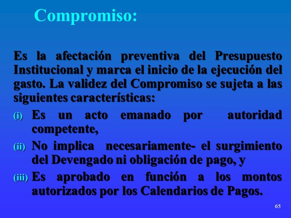 Compromiso: