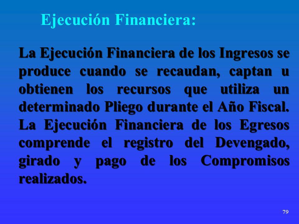 Ejecución Financiera: