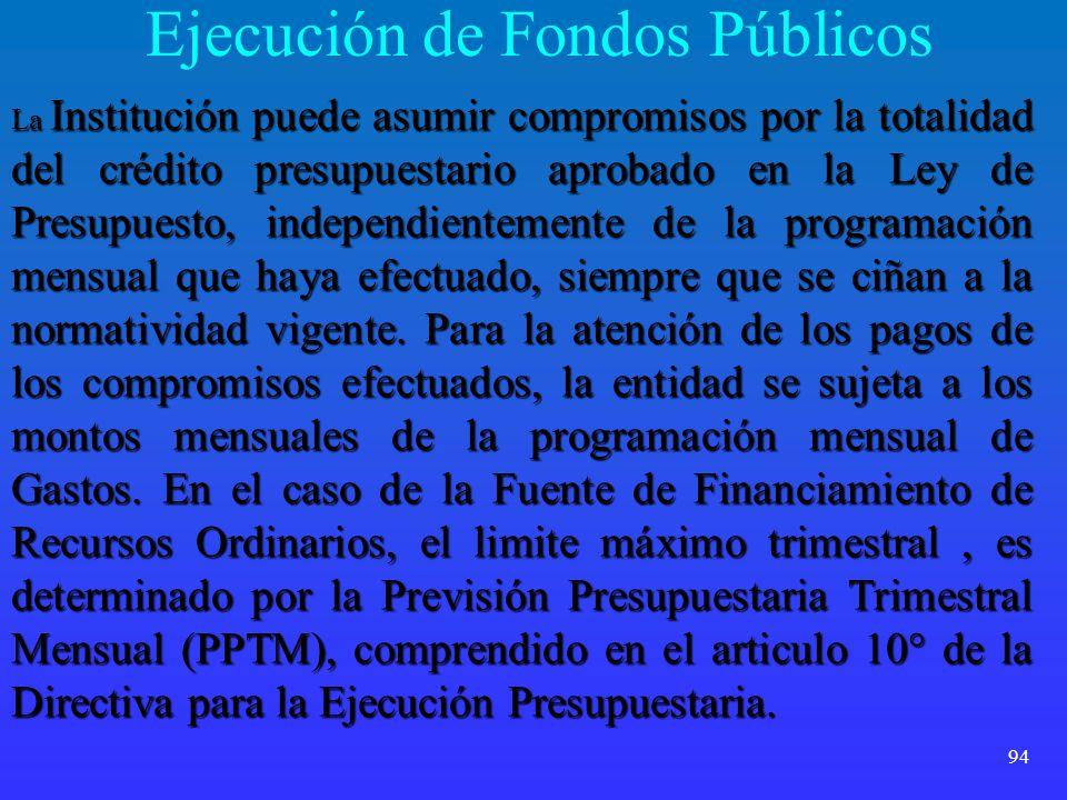 Ejecución de Fondos Públicos