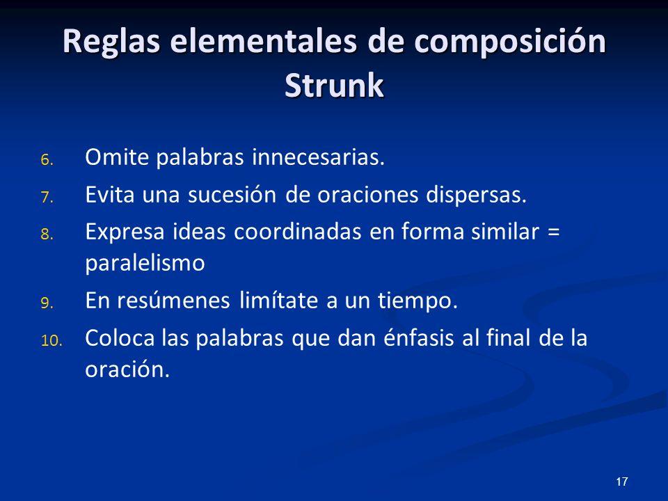 Reglas elementales de composición Strunk