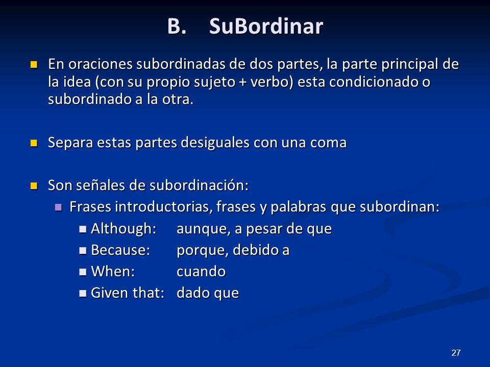 B. SuBordinar