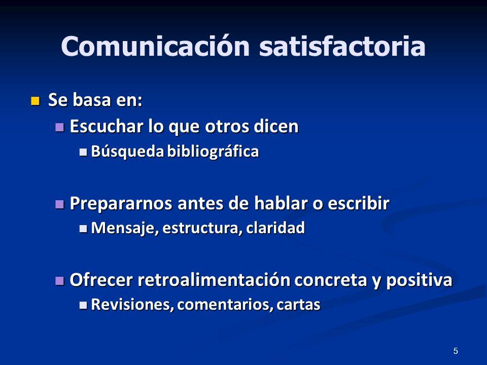 Comunicación satisfactoria