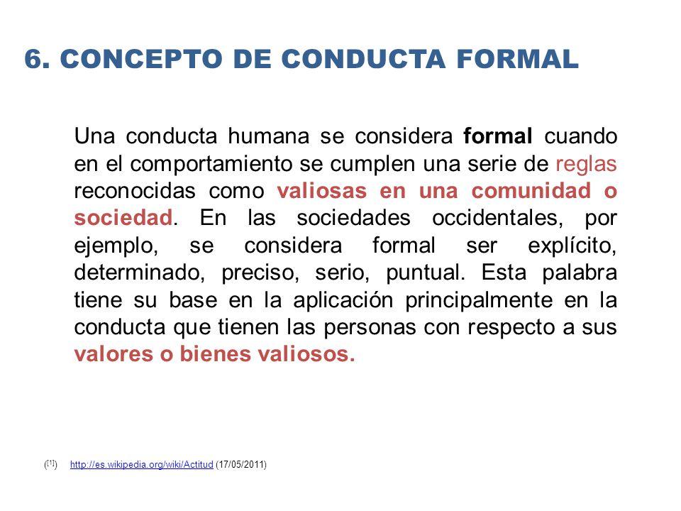 6. Concepto de conducta formal
