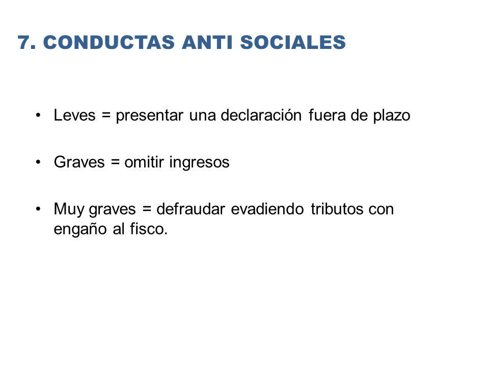 7. CONDUCTAS ANTI SOCIALES