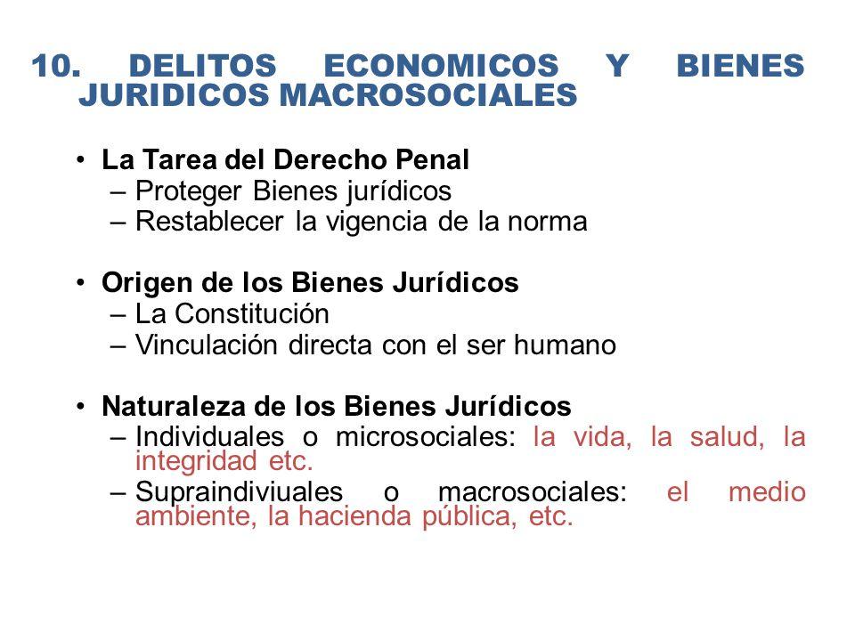 10. DELITOS ECONOMICOS Y BIENES JURIDICOS MACROSOCIALES