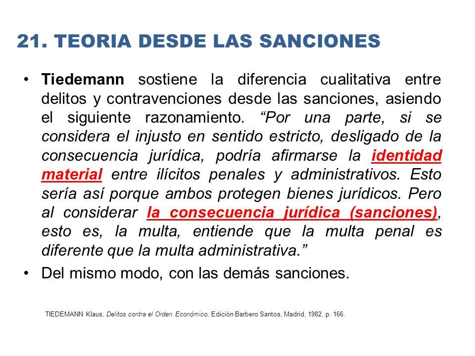 21. TEORIA DESDE LAS SANCIONES