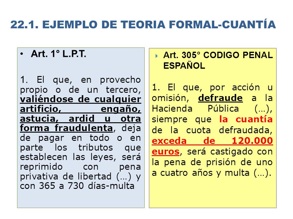 22.1. EJEMPLO DE TEORIA FORMAL-CUANTÍA