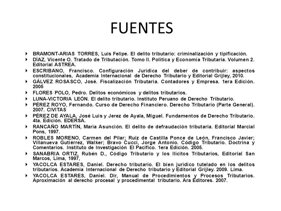 FUENTES BRAMONT-ARIAS TORRES, Luis Felipe. El delito tributario: criminalización y tipificación.