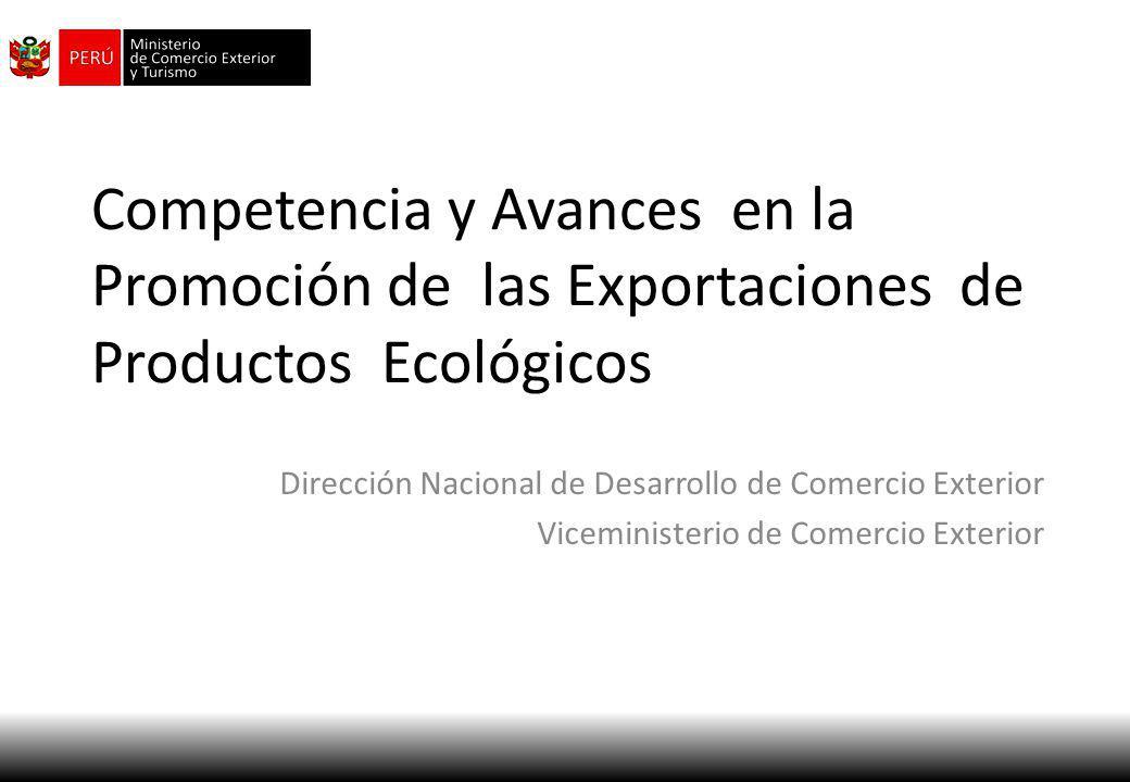 Competencia y Avances en la Promoción de las Exportaciones de Productos Ecológicos