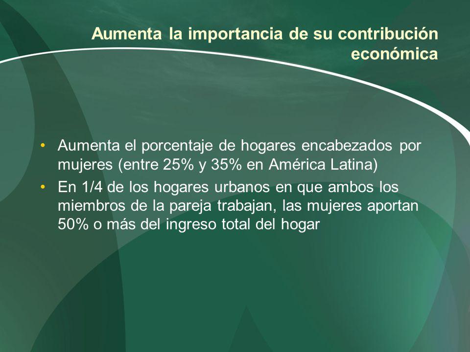 Aumenta la importancia de su contribución económica