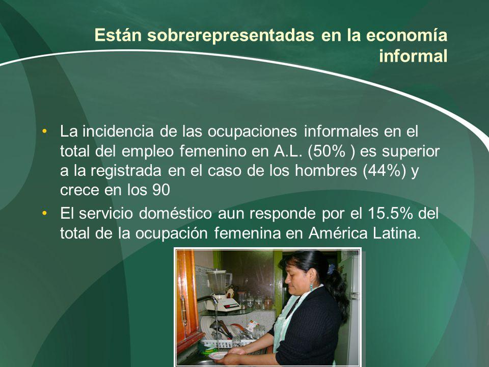 Están sobrerepresentadas en la economía informal