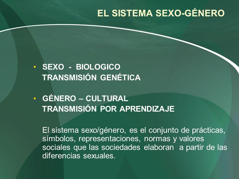 EL SISTEMA SEXO-GÉNERO