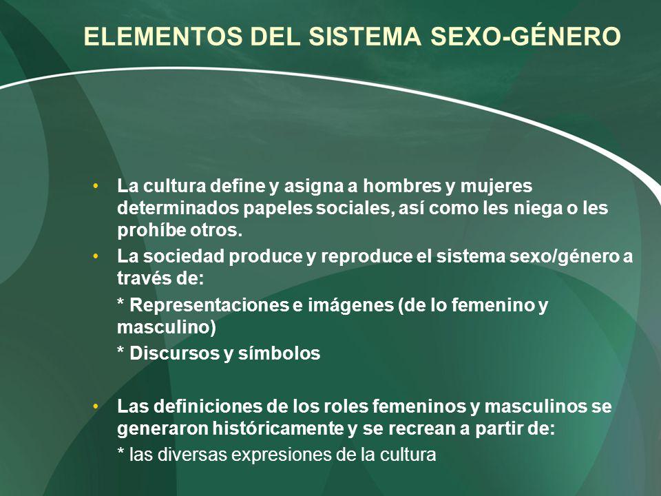 ELEMENTOS DEL SISTEMA SEXO-GÉNERO
