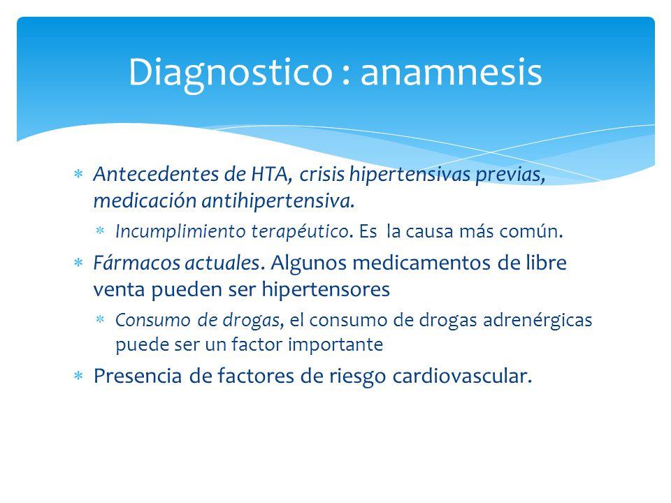 Diagnostico : anamnesis
