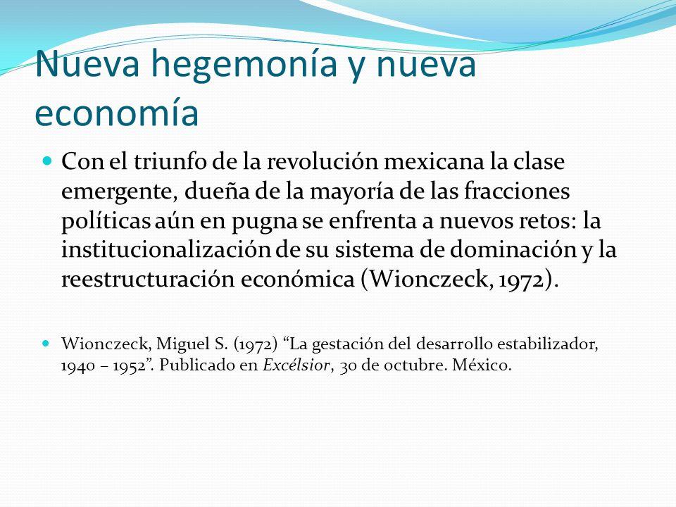 Nueva hegemonía y nueva economía