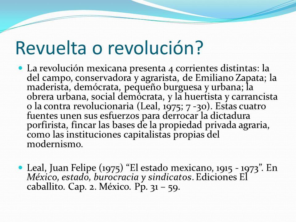 Revuelta o revolución