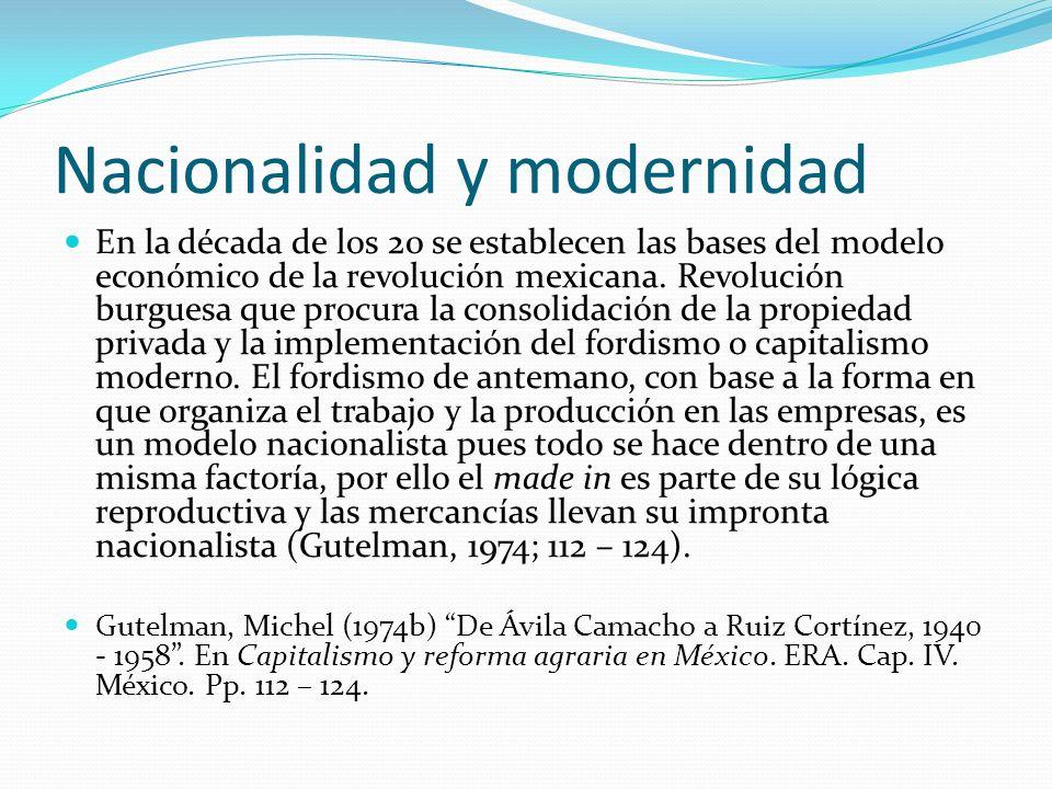 Nacionalidad y modernidad