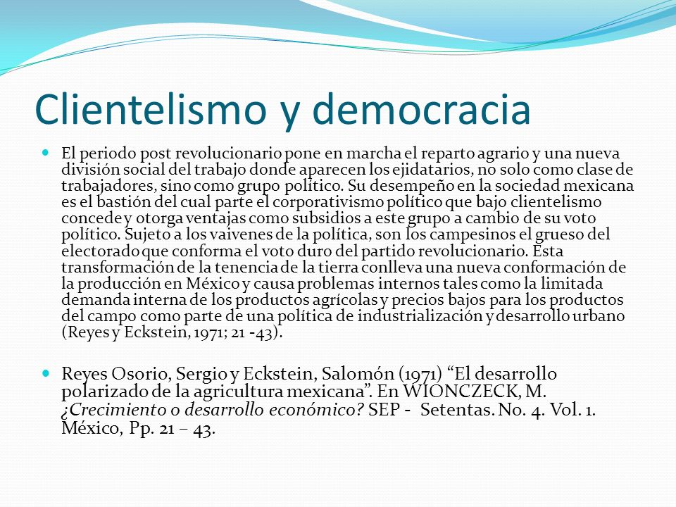 Clientelismo y democracia