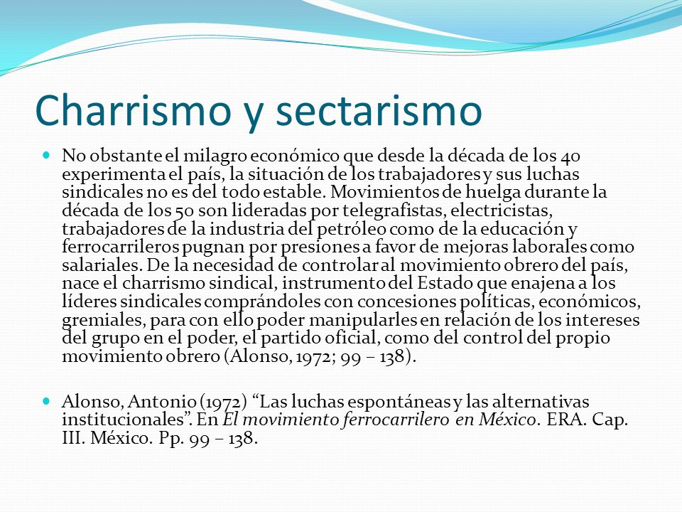 Charrismo y sectarismo