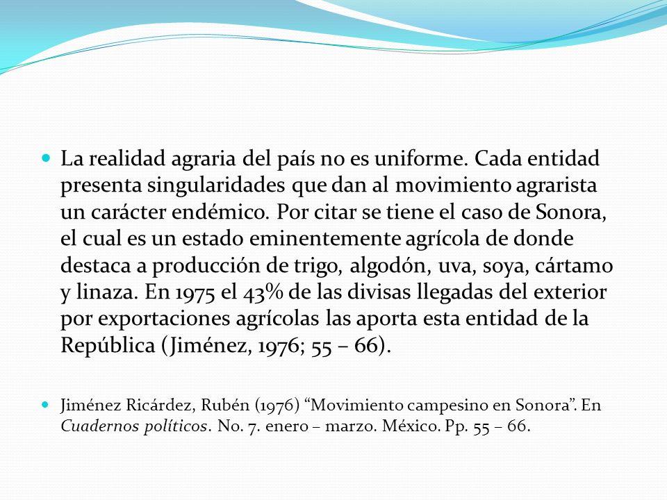 La realidad agraria del país no es uniforme