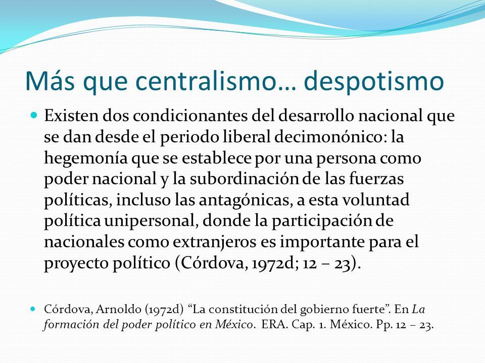 Más que centralismo… despotismo