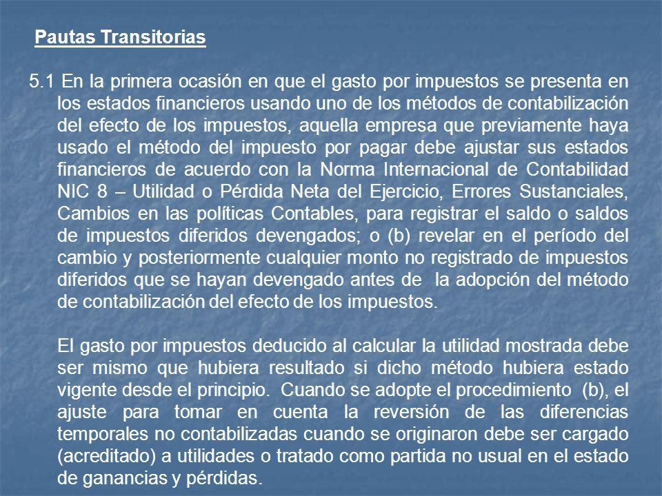 Pautas Transitorias